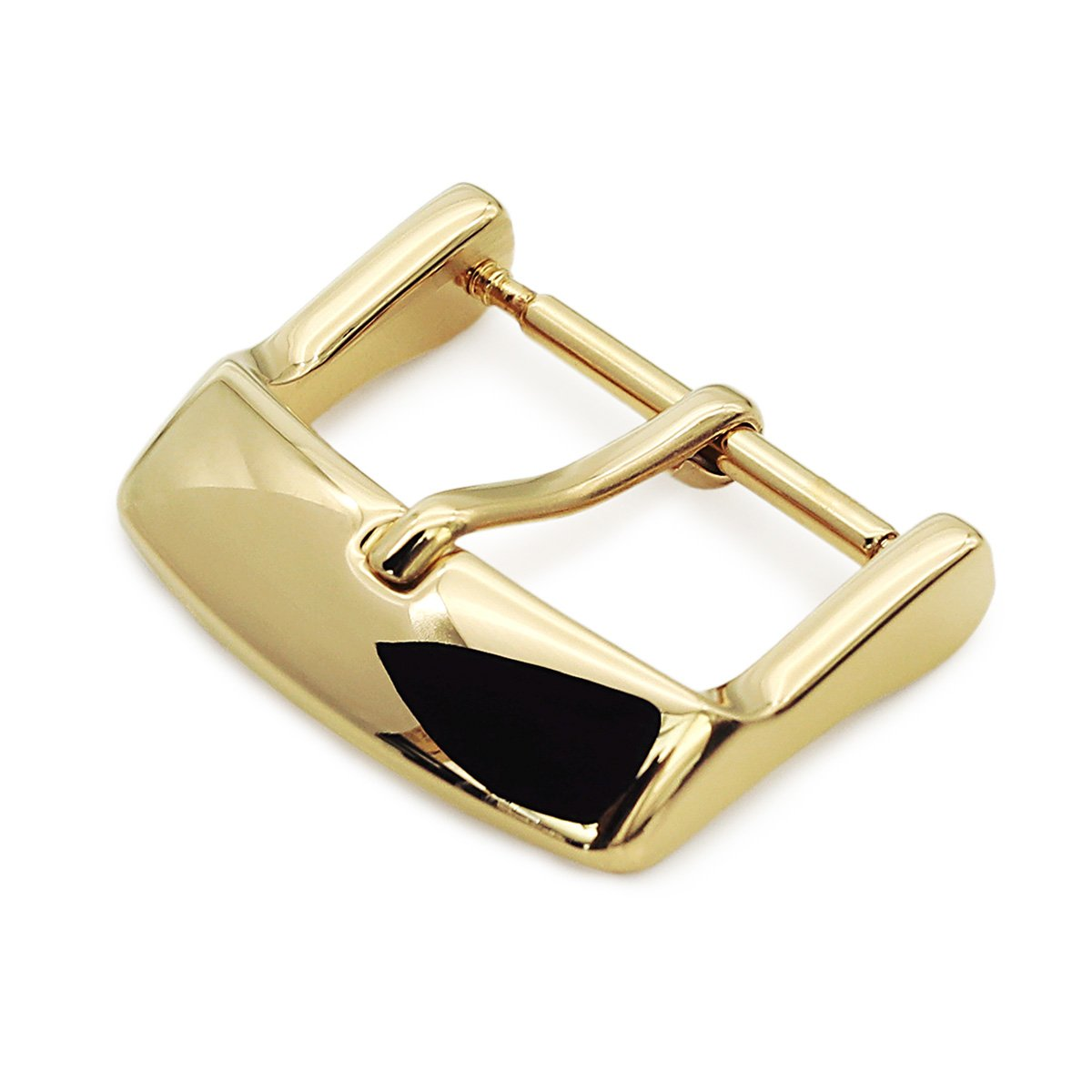 18mm 20mm #64 Sporty Tang Buckle for Leather Watch Strap Polished IP Gold Strapcode Buckles