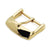 18mm, 20mm #64 Sporty Tang Buckle for Leather Watch Strap,  Polished IP Gold