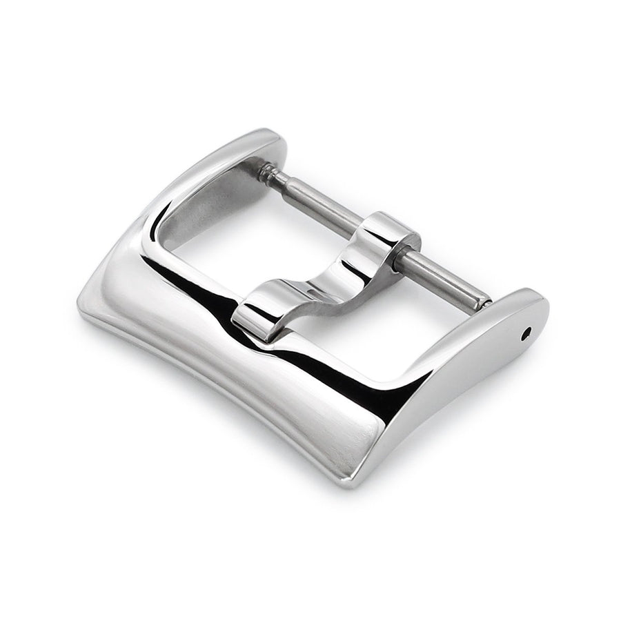 16mm, 18mm, 20mm #65 Classic Tang Buckle for Leather Watch Strap, Polished