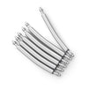 22mm Curved Spring Bars Double Shoulder 2.0mm Dia. (pack of 6 pieces) - Strapcode