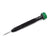 MiLTAT Swiss made 'T' Shape Screwdriver for Watch Bracelet Link Screws, Green Cap