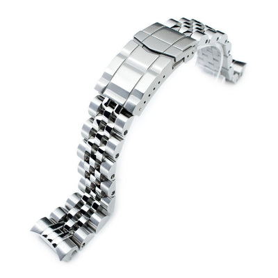20mm ANGUS Jubilee 316L Stainless Steel Watch Bracelet for Seiko MM300 Prospex Marinemaster SBDX001, Brushed, Submariner Clasp - Strapcode