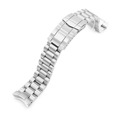20mm Endmill 316L Stainless Steel Watch Bracelet for Seiko SKX013, Brushed SUB Clasp - Strapcode