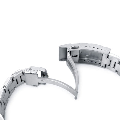 20mm Retro Razor 316L Stainless Steel Watch Bracelet for Seiko Mini Turtles SRPC35, Brushed SUB Clasp - Strapcode