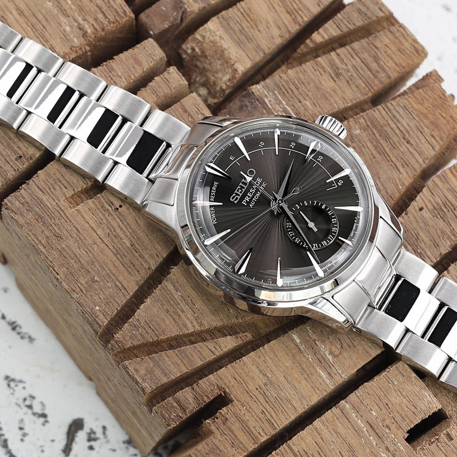 20mm Super 3D Oyster  Brushed & Polished 316L Stainless Steel Watch Bracelet for Seiko Cocktail SSA345, Button Chamfer