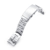 20mm Retro Razor 316L Stainless Steel Watch Bracelet for Seiko Mini Turtles SRPC35, Brushed Wetsuit Ratchet Buckle - Strapcode