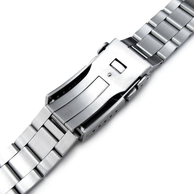 20mm Super 3D Oyster watch band for Seiko Alpinist SARB017, Brushed, Button Chamfer - Strapcode