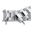 20mm Super 3D Oyster 316L Stainless Steel Watch Bracelet for Seiko Mechanical Automatic SARB035, Button Chamfer, Polished & Brushed - Strapcode