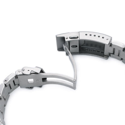 20mm Super 3D Oyster 316L Stainless Steel Watch Bracelet for Seiko SBDC053 aka modern 62MAS, Button Chamfer, Polished & Brushed - Strapcode
