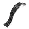 20mm Hexad 316L Stainless Steel Watch Band for Seiko Sumo SBDC001, Diamond-like Carbon (DLC Black) V-Clasp Strapcode Watch Bands