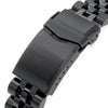 20mm Angus-J Louis JUB 316L Stainless Steel Watch Band for Seiko Sumo SBDC001, Diamond-like Carbon (DLC Black) V-Clasp Strapcode Watch Bands
