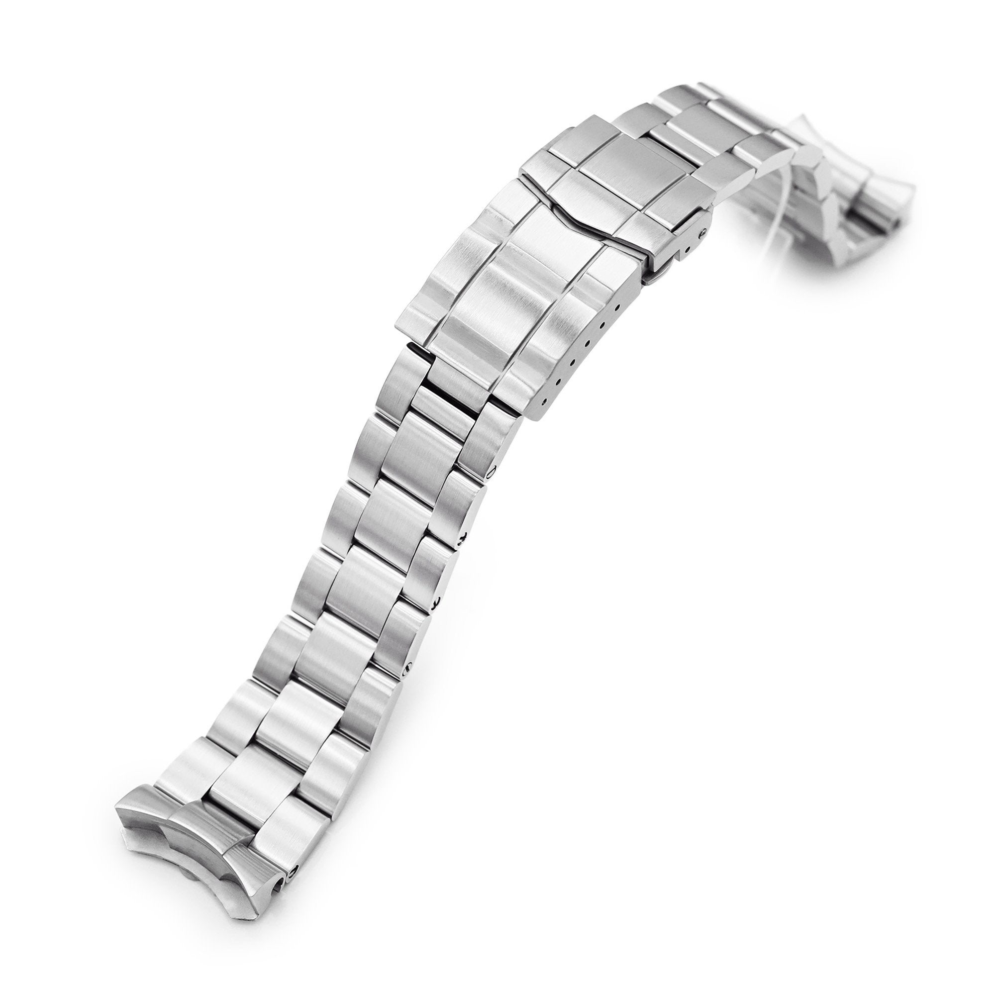 22mm Super-O Boyer 316L Stainless Steel Watch Band for Seiko 5, Brushed SUB Clasp Strapcode Watch Bands