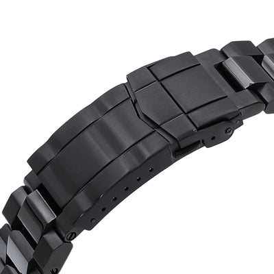 22mm Hexad 316L Stainless Steel Watch Band for Seiko New Turtles SRPC49K1 & SRP777, SUB Clasp PVD Black