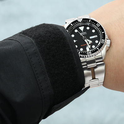 Reissue  22mm Retro Razor 316L Stainless Steel Bracelet for SEIKO Diver SKX007/009/011 Curved End, Wetsuit Ratchet Buckle