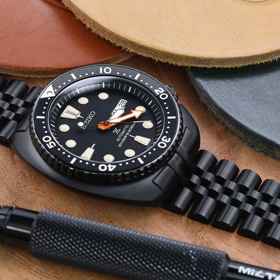 SEIKO PROSPEX Black Series Turtle Limited Edition SRPC49K1 PVD Black watch band