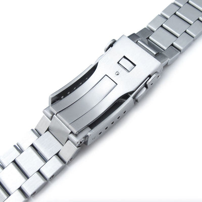 22mm Endmill 316L Stainless Steel Watch Bracelet for Seiko New Turtles SRP777, Brushed & Polished Button Chamfer