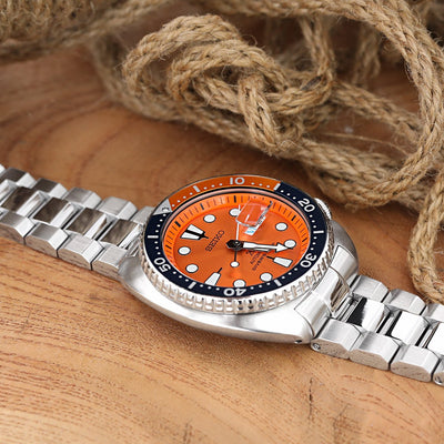 22mm Hexad Oyster 316L Stainless Steel Watch Band for Seiko New Turtles SRP777 & PADI SRPA21, Button Chamfer, Polished & Brushed