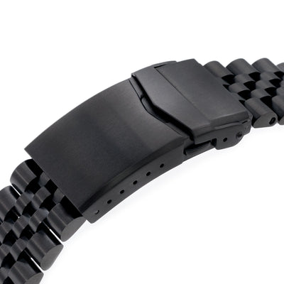 22mm Super 3D Jubilee 316L Stainless Steel Watch Bracelet for Seiko New Turtles SRPC49K1, V-Clasp All Brushed PVD
