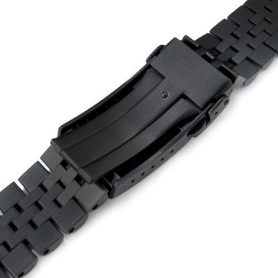 22mm Super-J Louis 316L Stainless Steel Watch Bracelet for Seiko New Turtles SRPC49K1, V-Clasp All Brushed PVD
