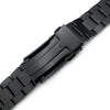 22mm Hexad 316L Stainless Steel Watch Band for Seiko Samurai SRPB51, Diamond-like Carbon (DLC coating) V-Clasp Strapcode Watch Bands