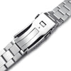 22mm Hexad 316L Stainless Steel Watch Band for Seiko new Turtles SRP777, Brushed and Polished V-Clasp Strapcode Watch Bands