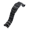 22mm Super Oyster watch band for SEIKO Diver SKX007, Submariner Clasp, PVD Black