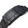 22mm Super-O Boyer watch band for SEIKO Diver SKX007 SUB Clasp PVD Black Strapcode Watch Bands