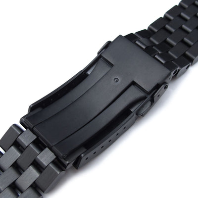 22mm Super Engineer II 316L Stainless Steel Watch Bracelet for Seiko New Turtle SRPC49K1, SRP777, Submariner Clasp PVD Black