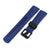 22mm Crafter Blue - Blue Rubber Curved Lug Watch Strap for Tudor Pelagos 25500TN, PVD Black Buckle