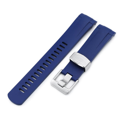 22mm Crafter Blue - Blue Rubber Curved Lug Watch Strap for Tudor Pelagos 25500TN