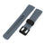 22mm Crafter Blue - Grey Rubber Curved Lug Watch Strap for Tudor Pelagos 25500TN, PVD Black Buckle