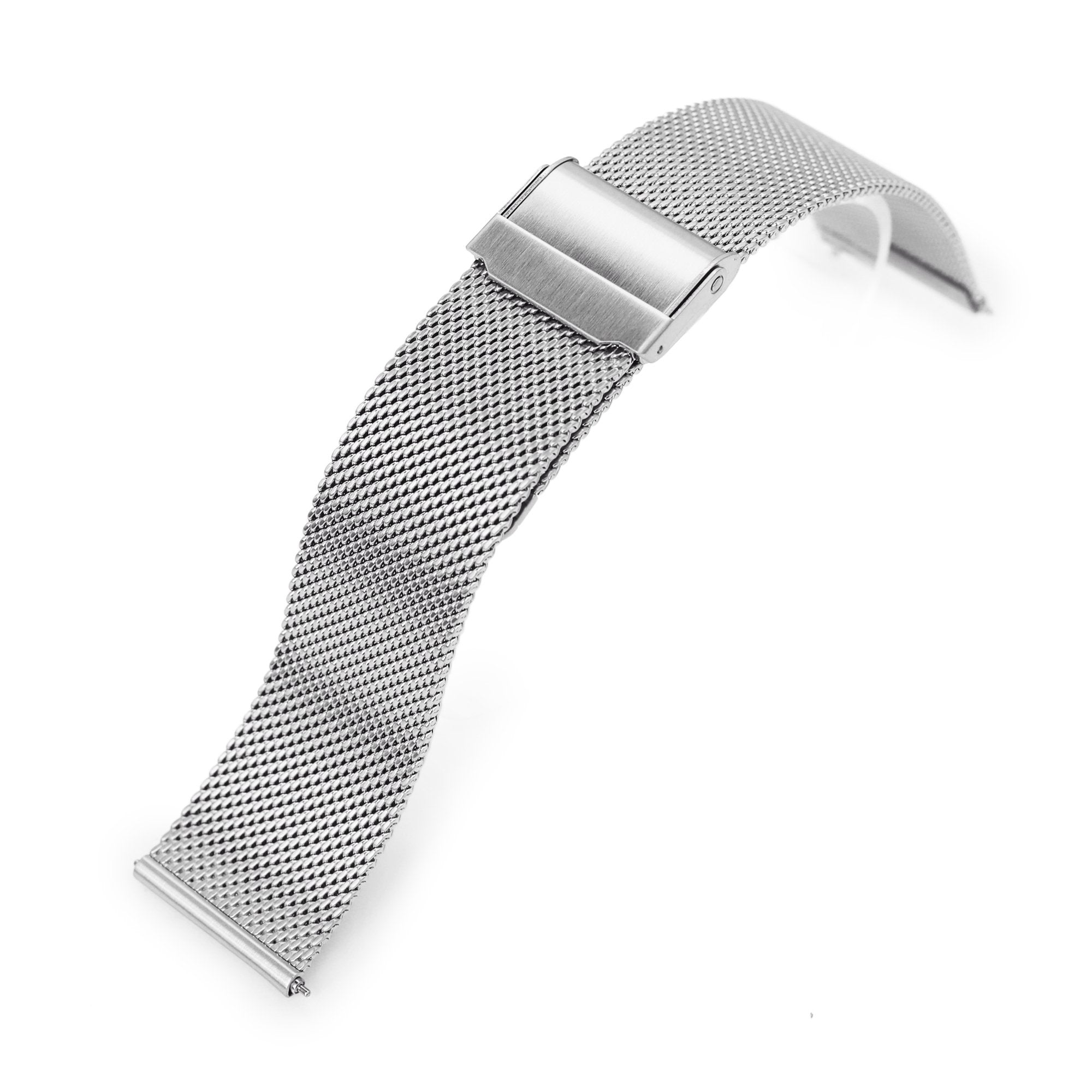Quick Release Classic Superfine Mesh Watch Band, 18mm, 20mm or 22mm, Brushed Strapcode Watch Bands
