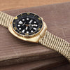 Seiko Watch Prospex Black Gold Turtle Special Edition SRPD46K1 Strapcode Watch Bands