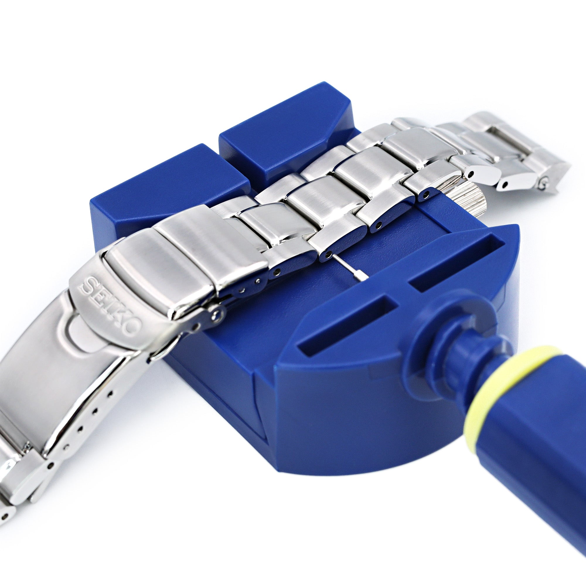 Watch bracelet link pin adjuster, link remover tool