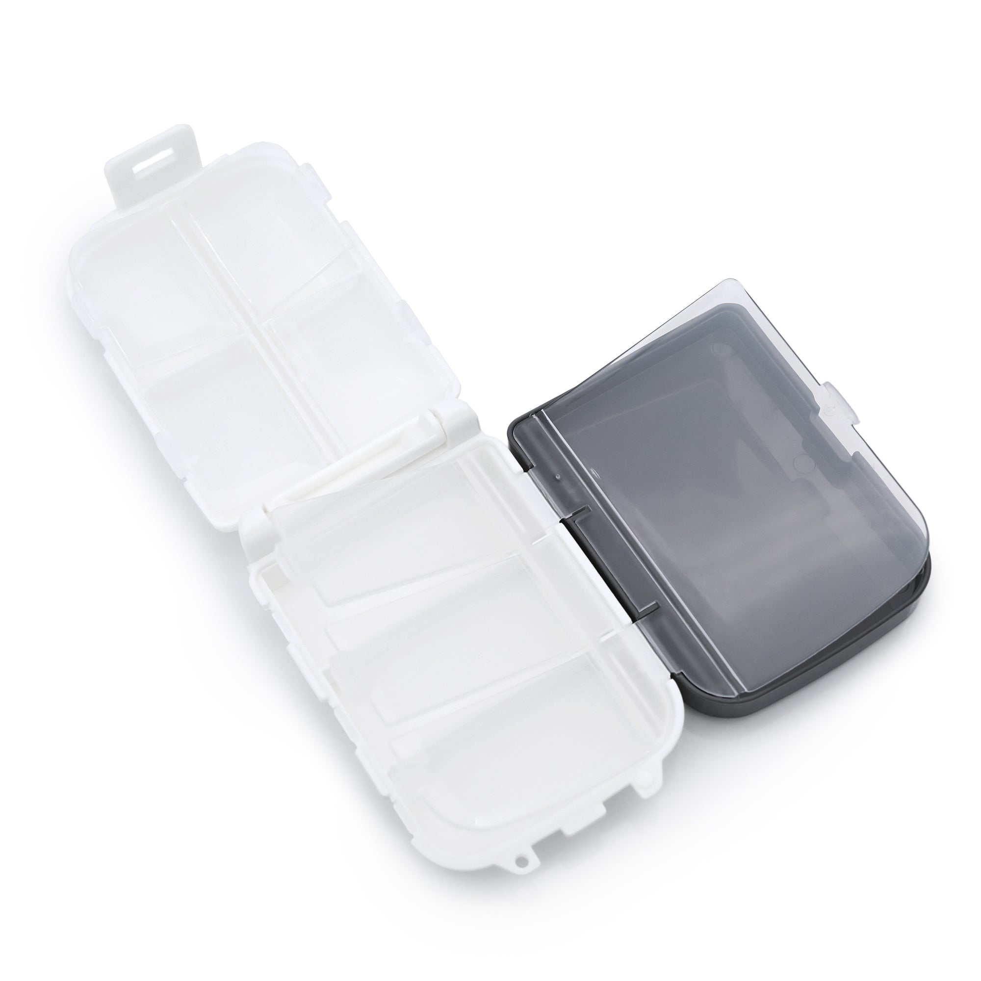 8 Slots Container for Watch Band Spring Bars, Buckles and Watch Parts, White