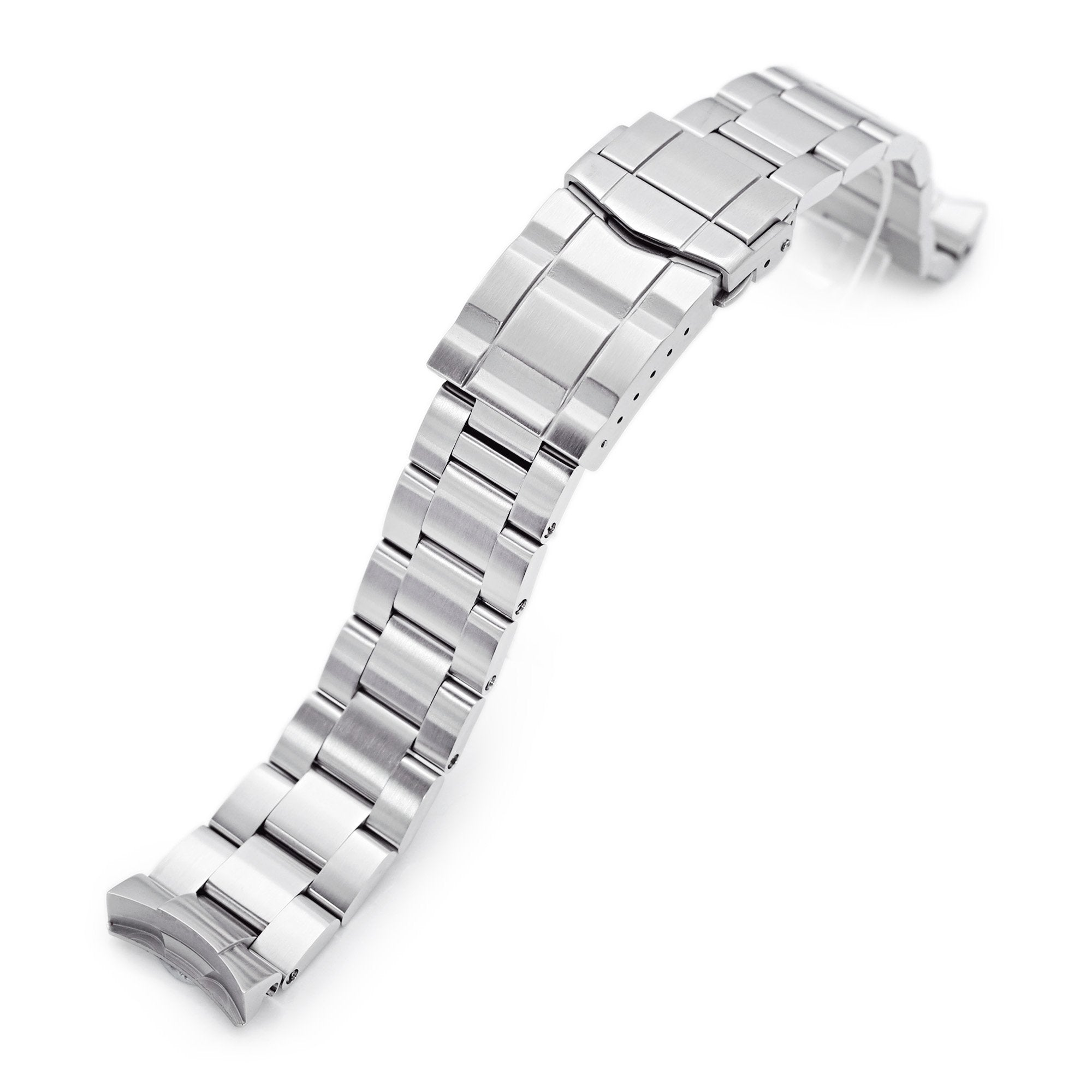 20mm Super-O Boyer 316L Stainless Steel Watch Band for New Seiko 5 40mm, Brushed SUB Clasp Strapcode Watch Bands