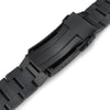 20mm Super-O Boyer 316L Stainless Steel Watch Band for Seiko Black Sumo SPB125J1, Diamond-like Carbon (DLC coating) V-Clasp Strapcode Watch Bands
