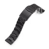 20mm Super-O Boyer 316L Stainless Steel Watch Band Straight End, PVD Black V-Clasp Strapcode Watch Bands