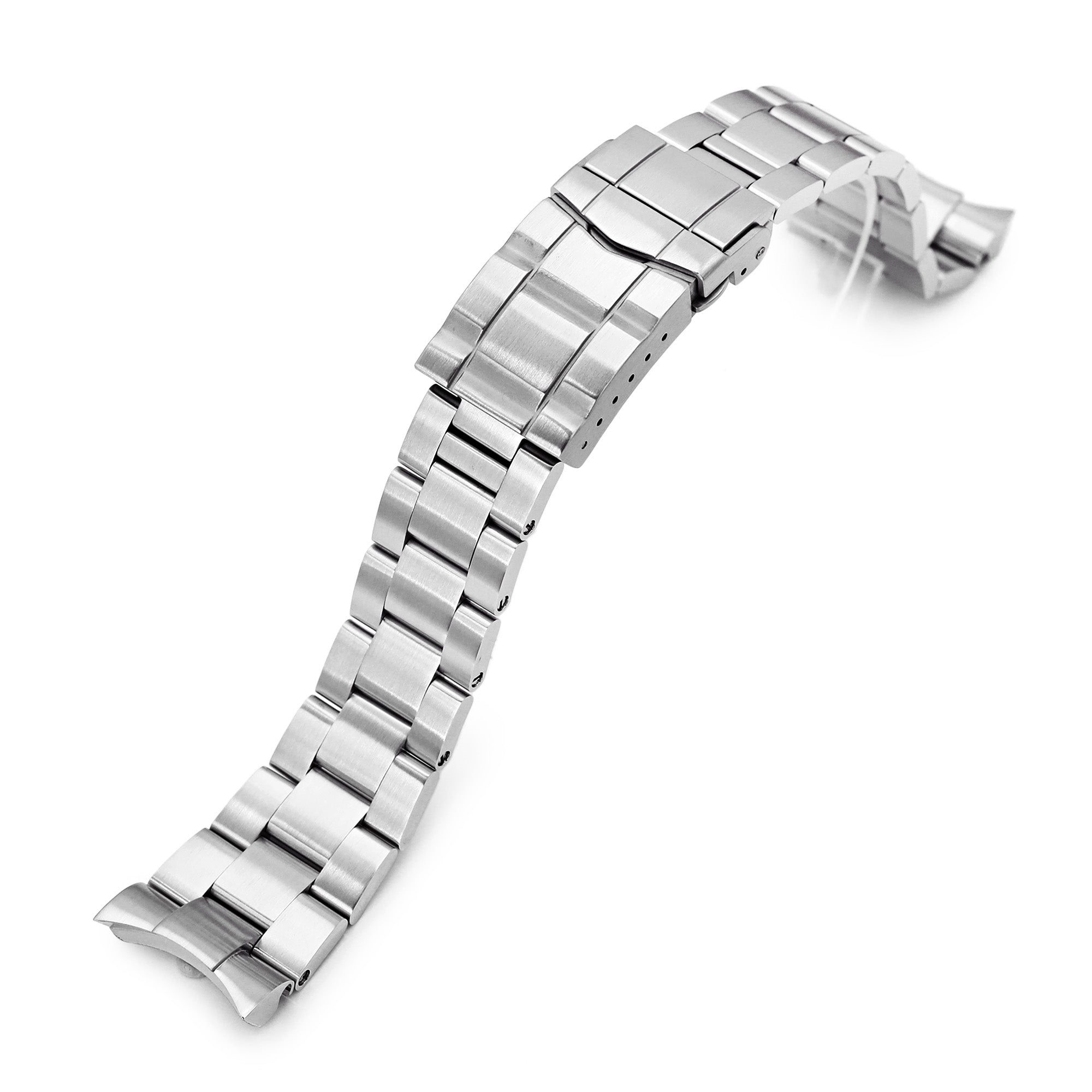 22mm Super-O Boyer 316L Stainless Steel Watch Band for Orient Mako II & Ray II, SUB Clasp Strapcode Watch Bands