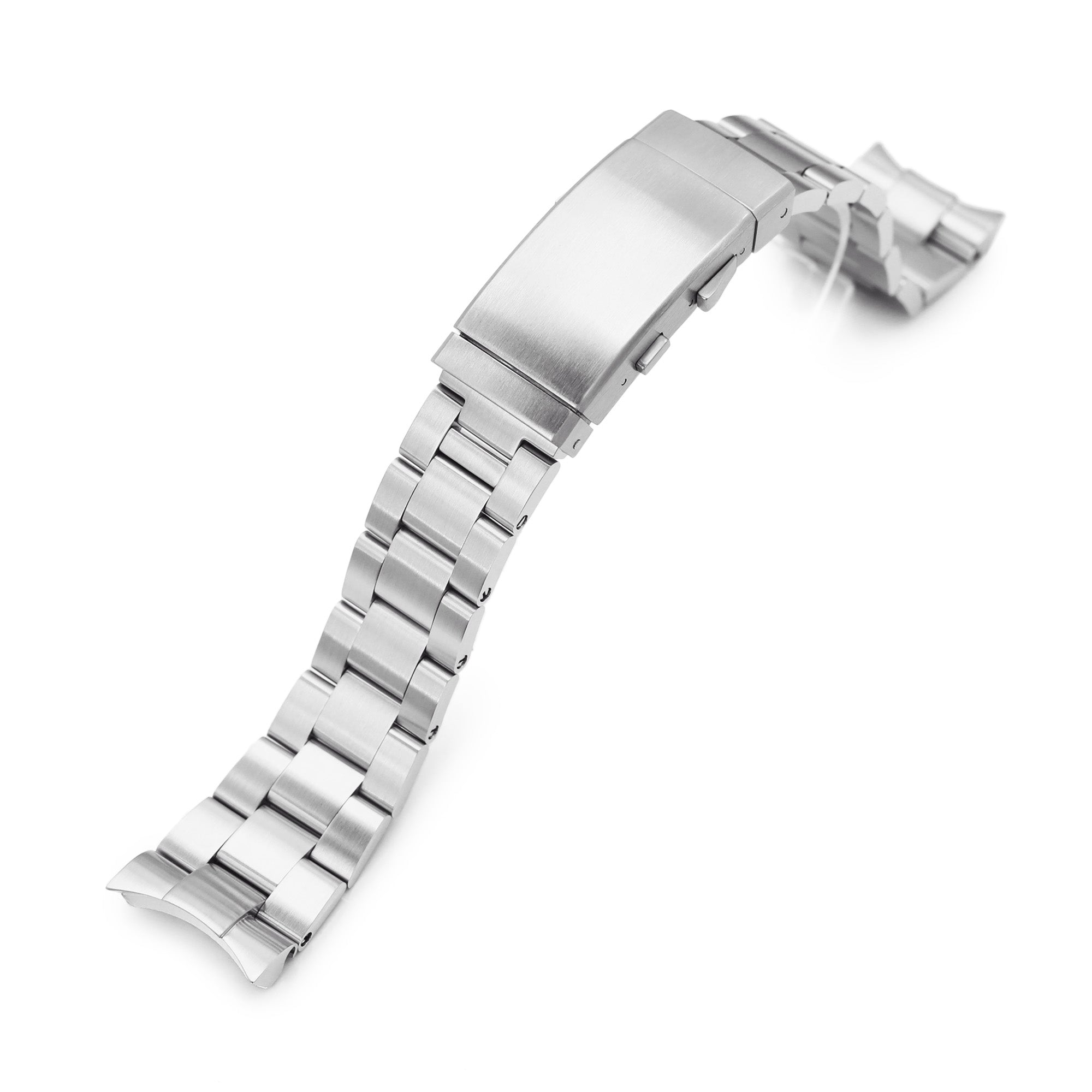 22mm Super-O Boyer 316L Stainless Steel Watch Band for Orient Mako II & Ray II, Wetsuit Ratchet Buckle Strapcode Watch Bands