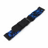 Quick Release 22mm G10 Hybrid Paracord watch Band, Camo Blue & Black Strapcode Watch Bands