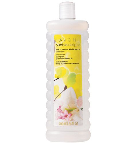 Avon Bubble Delight Lily & Honeysuckle Blossom Bubble Bath 700ml.
