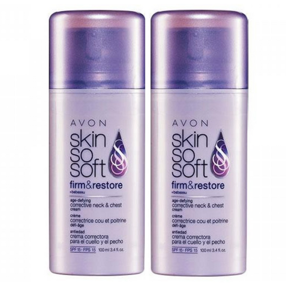 2 X Skin So Soft Firm & Restore Age-Defying Corrective Neck & Chest Cream SPF 15