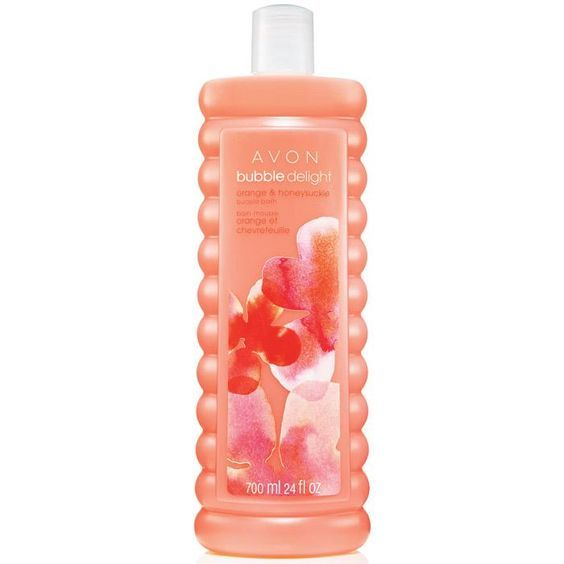Avon Bubble Delight Orange & Honeysuckle Bubble Bath 700ml.