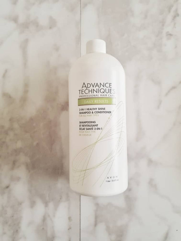 Avon Advance Techniques Daily Results 2 in 1 Healthy Shine Shampoo & Conditioner 1 Liter