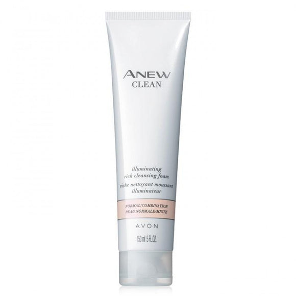 Avon Anew Clean Illuminating Rich Cleansing Foam
