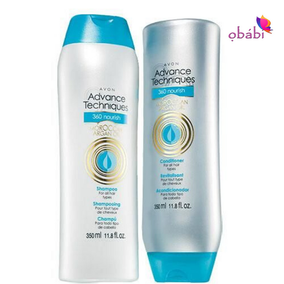 Avon Advance Techniques 360 Nourish Moroccan Argan Oil Duo.