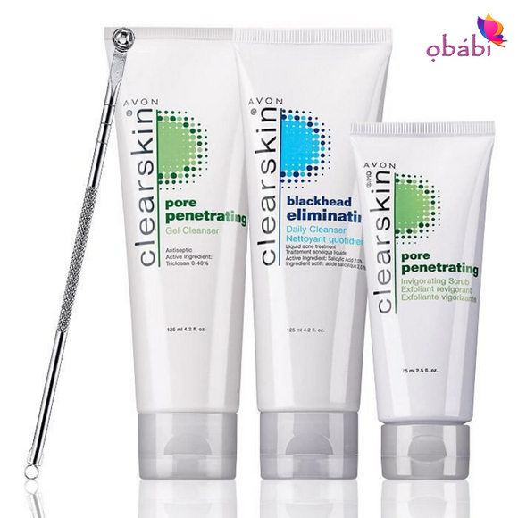Avon Clearskin 4-Piece Cleansing Set.