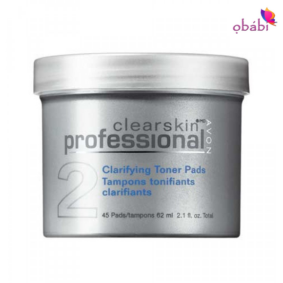 Avon Clearskin Professional Clarifying Toner Pads | 45 pads