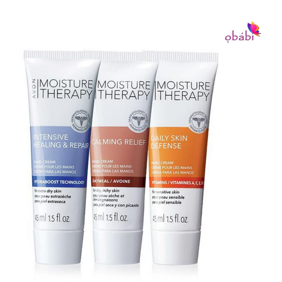 Avon Moisture Therapy Mini Hand Cream 3 Piece Set